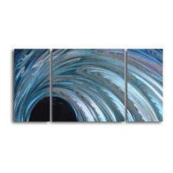 My Art Outlet - Metal Wall Art Decor Abstract Contemporary Modern Sculpture - Frozen Arc - Name: Frozen Arc