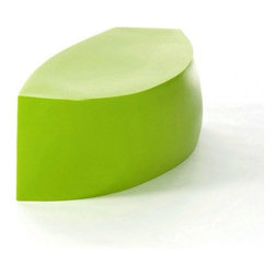 Heller - Frank Gehry Color Bench, Green - You'll be sitting pretty inside or out with this sleek bench. Designed by world-renowned architect Frank Gehry, it's made of molded polyethylene and comes in your choice of stunning colors.
