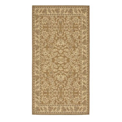 Safavieh - Courtyard Green/Brown Area Rug CY6555-24 - Safavieh takes classic beauty outside of the home with the launch of their Courtyard Collection. Made in Belgium with enhanced polypropylene for extra durability, these rugs are suitable for anywhere inside or outside of the house. To achieve more intricate and elaborate details in the designs, Safavieh used a specially-developed sisal weave.