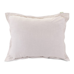 Majestic Home - Indoor Magnolia Wales Floor Pillow - Don't let a standing-room-only crowd cramp your style. This floor pillow fills in just fine and looks great in your favorite modern setting. Bonus? The linen blend slipcover zips off for easy cleaning.