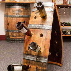 Napa East - Napa East Wine Barrel A Frame Riddling Rack Multicolor - 1014 - Shop for Wine Bottle Holders and Racks from Hayneedle.com! Storing wine doesn t have to be boring when you have the Napa East Wine Barrel A Frame Riddling Rack. Show off your prized collection of wines with flare in this A-shaped wine rack made from a reclaimed oak wine barrel. It holds up to 16 bottles and can be moved easily for convenient positioningAbout Napa EastNapa East creates wine-inspired furnishings that are made from actual reclaimed oak wine barrels. Their barrels began life handcrafted with pride from the finest French and American Oaks and Napa East continues that theme when they hand-select barrels and giving them new life as beautiful one-of-a-kind works of art.