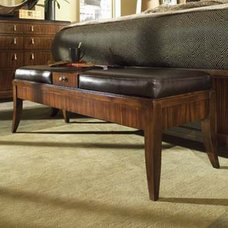 Traditional Upholstered Benches by National Furniture Supply