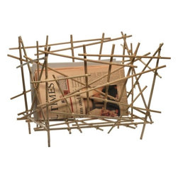 Alessi - Blow-Up Bamboo Magazine Holder by Fratelli Campana - I adore the modern, almost abstract look of this holder made of bamboo sticks.