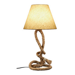 this nautical lamp really ropes you in the simple jute cotton shade. Black Bedroom Furniture Sets. Home Design Ideas