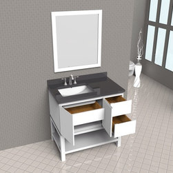 "NEW 36"" Gallardo Bathroom Vanity in Grey or White - COMING SOON -"