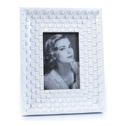 "Concepts Life - Concepts Life Photo Frame  Family Stone  4x6"" - Our take on a classic white frame, with a modern twist. The white pebbled surface adds texture and depth while the glossy finish makes your photos look radiant.  Modern home accent Contemporary white picture frame Beautiful and elegant home accent Rectangular photo frame Made of polyresin Textured finish Holds 4 x 6 in. size photo Dimensions: 8""w x 10""h x 1""d Weight: 1.5 lbs Easel back for horizontal or vertical display Various sizes available"