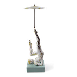 "Lladro Porcelain - Lladro Balancer with Parasol Figurine - Plus One Year Accidental Breakage Replac - "" Lladro pays tribute to the modern circus with a series of spectacular sculptures in which equilibrium, poise, elegance and agility have been rendered to perfection in each one of these pieces. The excellent modeling work is truly spectacular and required thorough prior anatomical study. The posture of the bodies, the tension of the musculature and the expression on their faces play a truly important role in making us see and understand the difficulty in performing these exercises. The balancer is executing an exercise on the floor as she keeps a large umbrella spinning with almost imperceptible movements. Worth noting is the decoration of her costume, adorned with gold luster to draw the fine intertwining lines. The circus and its bright coloring was ever present in the decoration of these pieces and various techniques are used : glaze and matte are combined, golden luster applied in some of the details of the artists costumes, as well as Lladros classic palette of colors, though in stronger tones than we are used to seeing in other pieces. Hand Made In Valencia Spain - Sculpted By: Ernest Massuet - Included with this sculpture is replacement insurance against accidental breakage. The replacement insurance is valid for one year from the date of purchase and covers 100% of the cost to replace this sculpture (shipping not included). However once the sculpture retires or is no longer being made, the breakage coverage ends as the piece can no longer be replaced. """