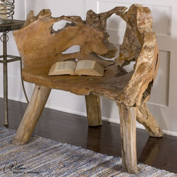 """Uttermost - Teak Root Chair - Artistically Crafted Of Unique Reclaimed Teak Wood Roots, Each Chair Is Solidly Constructed To Suit Its Individual Shape Grown In Nature, Sanded Smooth With A Natural Finish For Outdoor And Indoor Use. Uttermost's Chairs Combine Premium Quality Materials With Unique High-style Design. Bulbs included?: NO; Overall Dimensions: 23.6""""D x 35""""W x 33.5""""H"""