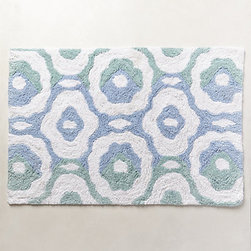 Anthropologie - River Bloom Bathmat - This River Bloom bath mat from Anthropologie brings a fresh take to the Moroccan look.