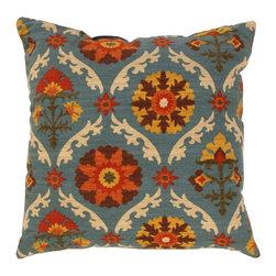 Land of Pillows - Waverly Mayan Medallion Throw Pillow, Adobe - Fabric Designer - Waverly