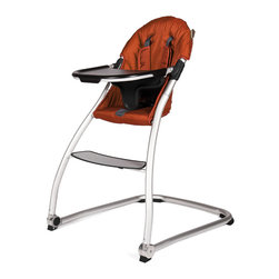 BabyHome - BabyHome Taste High Chair in Agril - Taste is a very light, simple and safe high chair with a polished aluminum frame and a wide, stable base. The seat is large and comfortable with a quilted liner. It has a new system to easily remove the tray sideways without having to remove it completely using only one hand.  features: