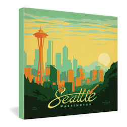 "DENY Designs - Anderson Design Group Seattle Gallery Wrapped Canvas - Want your home to show like a museum? Look no further than the gallery wrapped canvas collection! Each Gallery Wrapped Canvas from DENY is made with UV resistant archival inks and is individually trimmed and professionally stretched over 1-1/2"" deep wood stretcher bars. We also throw in the mounting hardware so that when you get it, it's a piece of cake to hang on your wall. The only thing you'll need after your purchase is the cool gallery laser beam security to protect it."