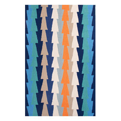 Jaipur Rugs - Hand-Tufted Geometric Pattern Polyester Blue/Orange Area Rug ( 7.6x9.6 ) - Style and value strike a perfect balance in Fusion, one of Jaipur's popular collections of contemporary hand-tufted rugs. This spirited series is guaranteed to make a statement in any room, with unexpected color combinations and attention-grabbing patterns. The Fusion Collection proves that fashion-forward doesn't have to carry an expensive price tag.