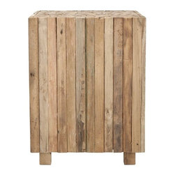 Safavieh - Safavieh Richmond Square End Table X-A1001XOF - Natural and rustic, the Richmond square end table is crafted of reclaimed teak in a 21st century iteration of butcher block designs.