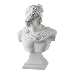 Ren-Wil - Ren-Wil STA256 David Statue in Matte white by Kelly Stevenson - This hand molded statue depicts the bust of David in a matte white finish.