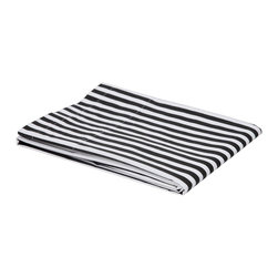 Bacati - Black Pin Stripes Crib Fitted Sheet - Bacati - Black Pin Stripes Crib Fitted Sheet made from 100 % cotton percale fabric. It has pin stripes in black on white white background. Crib sheet has reinforced corners and elastic all around for secure fit. It is machine washable and gets softer with every wash. It coordinates well with Bacati Dots/Pin Stripes Black/white bedding collection. Cotton is a green fabric as it is renewable resource & biodegradable. Cotton is breathable making it more comfortable in extreme climates. Cotton is inherently soft delicate on skin of babies, durable & user friendly. Cottons gentle quality makes it appropriate for Babies with very sensitive skin or skin allergies.