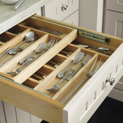 Organizing Features: Utensil Divider - This tiered cutlery divider doubles the storage of flatware and cooking utensils.