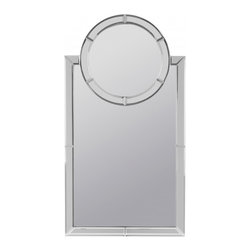 """Cooper Classics - Vistula Arched Frameless Mirror - Brighten a room with the stunning vistula mirror.  This frameless wall mirror will add style and light to any d�cor.  Frame Dimensions: 24""""W X 44""""H; Mirror Dimensions: 20.5""""W X 32.25""""H; Finish: Frameless; Material: Glass; Beveled: Yes; Shape: Arch; Weight: 27 lbs; Included: Brackets, Ready to Hang"""