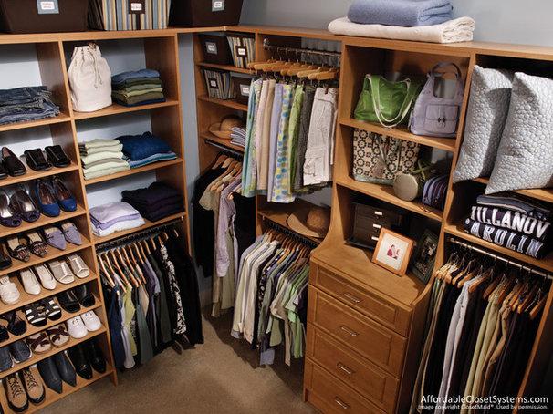 Traditional  closet organization