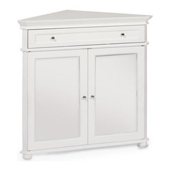 "Hampton Bay 32""W Corner Cabinet with Two Wood Doors"