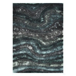 Loloi Rugs - Loloi Rugs GLAMGS-05MD005076 Glamour Midnight Hand Tufted Shag Rug - The Glamour Shag Collection takes the shag category to the next level with its chic look and alluring texture. The contemporary collection of soft, thick, textured shags features a subtle color palette with luxe tonal shading and shimmer that gives instant appeal. This smart collection is made in India of 100-percent polyester.
