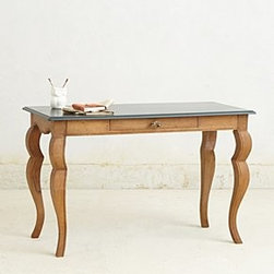 "Anthropologie - Handcarved Writing Desk - Mango wood31""H, 48""W, 24""DImported"