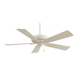 """Minka-Aire - Minka-Aire Supra 52"""" Bone White Ceiling Fan - F568-BWH - This Ceiling Fan is part of the Supra 52"""" Collection and has a Bone White Finish."""