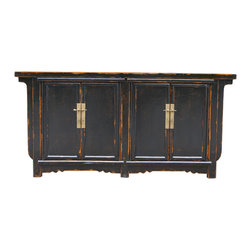 Mortise & Tenon - Hillhurst Cabinet - An asian reproduction cabinet with a single shelf.