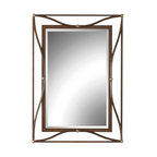 Uttermost - Thierry Mirror by Uttermost - The Uttermost Thierry Mirror is an elegant mirror with a lovely frame that encircles the mirror and adds an element of glamour and style to your room. The Thierry Mirror features an Iron frame with a Scratched Bronze finish and Champagne Silver Leaf accents.