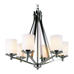 Trans Globe Lighting - Trans Globe 7926 BN Chandelier - Brushed Nickel - 26.75W in. - 7926 BN - Shop for Chandeliers from Hayneedle.com! With its clean lines casual appeal and lasting function the Transglobe 7926 BN Chandelier - Brushed Nickel - 26.75W in. makes a charming addition to your foyer dining area or living room. Beautiful brushed nickel finish combines with delicate frosted glass shades to create an accent that will appeal to aficionados of both traditional and contemporary styles. This 26.75-inch transitional chandelier uses six 60-watt medium base bulbs (not included) to add an inviting feel to any setting.