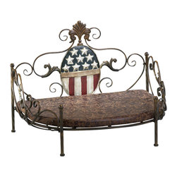 Cyan Design - Patriotic Pet Bed - Patriotic pet bed in burnished bronze.
