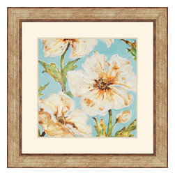 Paragon - Blue Floral I - Framed Art - Each product is custom made upon order so there might be small variations from the picture displayed. No two pieces are exactly alike.