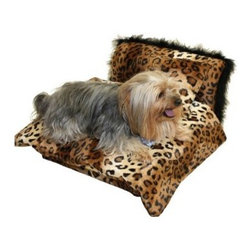 Fantasy Furniture Mini Bed Pet Bed - The Fantasy Furniture Mini Bed Pet Bed is a comfy choice for your pet and a stylish one for your home. This pet bed looks as good as it feels. It's designed thoughtfully with fluffy trim to enhance its beauty. This handmade bed has a durable wood frame with ultra soft faux fur fabric in your choice of wild animal print. It features polished nickel glides to protect most floor types. This pet bed includes a matching, reversible comforter and pillow for cuteness and comfort. The comforter is machine-washable for easy cleaning.About Fantasy FurnitureFantasy Furniture has been dreaming up high-quality, family-friendly products since 1999. This company is based in San Diego, California. They're dedicated to bringing fun and beauty into the family home. Fantasy Furniture specializes in creating well-crafted and beautifully-designed furniture that's loaded with personality. Furniture for your pets, your kids, and you!