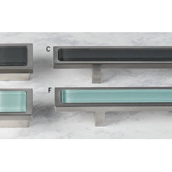 Spa Hardware - Why not replace the hardware on your bathroom vanity with these aqua handles? A little update like this will make your home memorable to buyers, and that's the goal when selling.