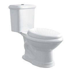 "Renovators Supply - Toilets White Laurier Dual Flush Toilet Elongated | 13727 - Dual Flush Toilets Laurier Toilet TOP Flush: By using Dual Flush technology the EPA estimates homeowners save up to 25,000 gal. of water a year. How? Use 0.8 LOW flush for liquids and 1.6 HIGH flush for solid waste. Control your water usage to SAVE money and conserve water. Our G-Force high efficiency flush system technology lets you flush only ONCE! Eliminate the need to double flush. Ergonomic easy height and elongated bowl makes using it safer by putting less strain on your body. Includes SAFE and QUIET ""No-Slam"" plastic toilet seat and EASY top flush plastic faux chrome button. Measures 28 1/2 inch H x 28 inch projection"