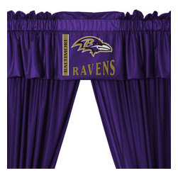 Store51 LLC - NFL Baltimore Ravens Football 5pc Valance-Curtains Set - FEATURES: