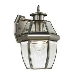 Cornerstone - Cornerstone 8601EW/80 Ashford 1 Light Outdoor Wall Lights in Antique Nickel - Coach Lantern Small