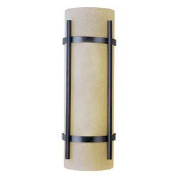 Maxim Lighting - Maxim Lighting 85219WSOI Luna EE Oil Rubbed Bronze Outdoor Wall Sconce - 2 Bulbs, Bulb Type: 13 Watt GU24 Fluorescent, Bulbs Included