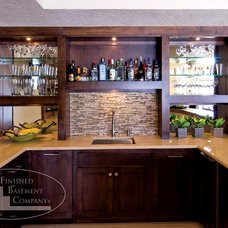 Modern Basement by Finished Basement Company