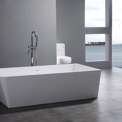"Leona Luxury Modern Bathtub 71"" - Leona Luxury Modern Bathtub"