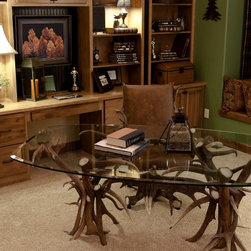 Antler Desk and Chair - Waldo Canon Fire Rebuild Parade of Homes - photo by Tweeds Fine Furnishings