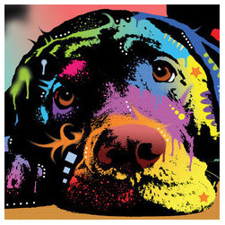Lying Lab by Dean Russo - soulful artwork of a labrador by dean russo.  so much expression in those eyes.  available in a variety of options including gallery wrapped canvas, framed or metal print.  sold by fine art america.