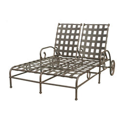 Darlee - Darlee Malibu Double Chaise Lounge Chair Multicolor - DL1051-38/308 - Shop for Chaise Lounges from Hayneedle.com! Built for two the Darlee Malibu Double Chaise Lounge Chair offers a multi-position recline feature for both people and does it in style. Perfect poolside or on the patio this double chaise is lounge-worthy at all times and when needed the large back wheels make it mobile. It has an open lattice design is made of premium cast aluminum and has a powder-coated antique bronze finish. This double chaise lounge includes two hinged sesame fabric cushion that include handy ties to keep them in place. About DarleeSince 1993 Darlee has developed a wide variety of products to help you create your ideal outdoor-living environment. Working with high-quality materials Darlee achieves a large spectrum of styles that covers a range of interests as well as aesthetic tastes. From classic to contemporary from conversation sets to dining sets to fire pits Darlee has you covered for outdoor entertaining. Because the company knows good business is built on trust and integrity Darlee focuses on reliable quality construction and remains committed to providing customers with the best service possible.