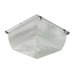 Hubbell Outdoor - Hubbell S9 42W CFL Vandal Resistant Ceiling/Wall Mount - Ceiling/canopy lighting. Safety and security illumination for parking garage, entrance canopies, stairwells, building eaves