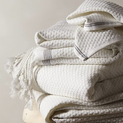Mediterranean Towel Collection, White - These towels look so gorgeous and cozy.