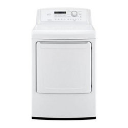 "LG - DLG4871W 27"" 7.3 cu. ft. Gas Dryer With SmartDiagnosis  Sensor Dry System  Elect - The LG Electronics 73 cu ft Capacity Electric Dryer features a sensor-dry system that measures interior moisture levels and automatically adjusts the drying time accordingly to deliver precise drying performance With 5 temperature settings and 5 dryi..."