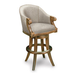 California House - ivey swivel bar chair (fabric) - Manufactured in the USA, we are proud to offer our customers this premium game room furniture from a third generation, family-owned company.