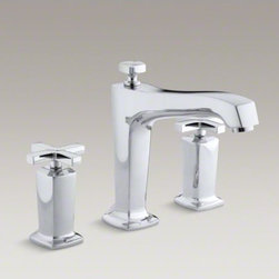 KOHLER - KOHLER Margaux(R) deck-mount bath faucet trim for high-flow valve with diverter - Blending traditional design with contemporary accents, Margaux faucets and accessories are an ideal complement to any modern bathroom. This bath faucet trim embodies Margaux's minimalist style with its fluid silhouette and sleek, ergonomic cross handles.