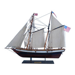 """Handcrafted Model Ships - Lynx 24"""" - Wooden Model Ship - Sold Fully Assembled"""