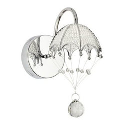 Possini Euro Crystal Balloon with Chrome Wall Sconce -